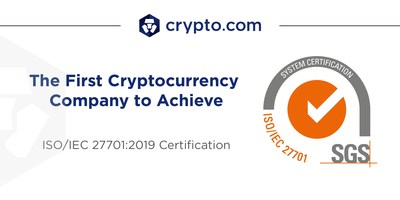 Crypto.com becomes the first cryptocurrency company in the world to achieve ISO/IEC 27701:2019 Certification