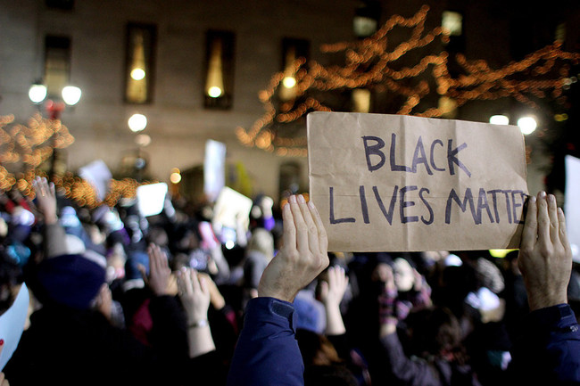 Photo from a Black Lives Matter demonstration.