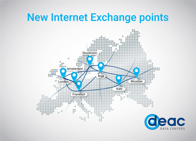 Data centers' provider DEAC has launched new Internet Exchange (IX) points in all its data centers' locations by opening reliable and fast network gate between Baltic States, Europe and Russia.