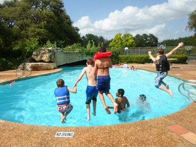 Enjoying the Pool at RMYA Campus