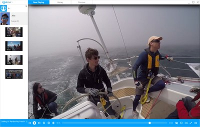 RealPlayer 20/20_ AI powered  PC media player_search for personal video of son, and the exact moment he's at the helm of sailboat.