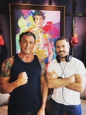 Sylvester Stallone and Becoming Rocky Director Derek Wayne Johnson (PRNewsfoto/Branded Studios)