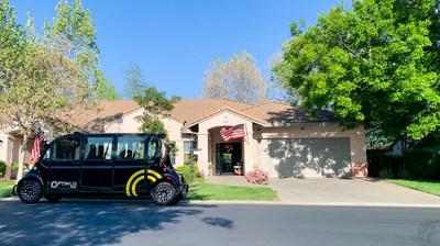An Optimus Ride self-driving vehicle at Paradise Valley Estates. | Credit: Optimus Ride