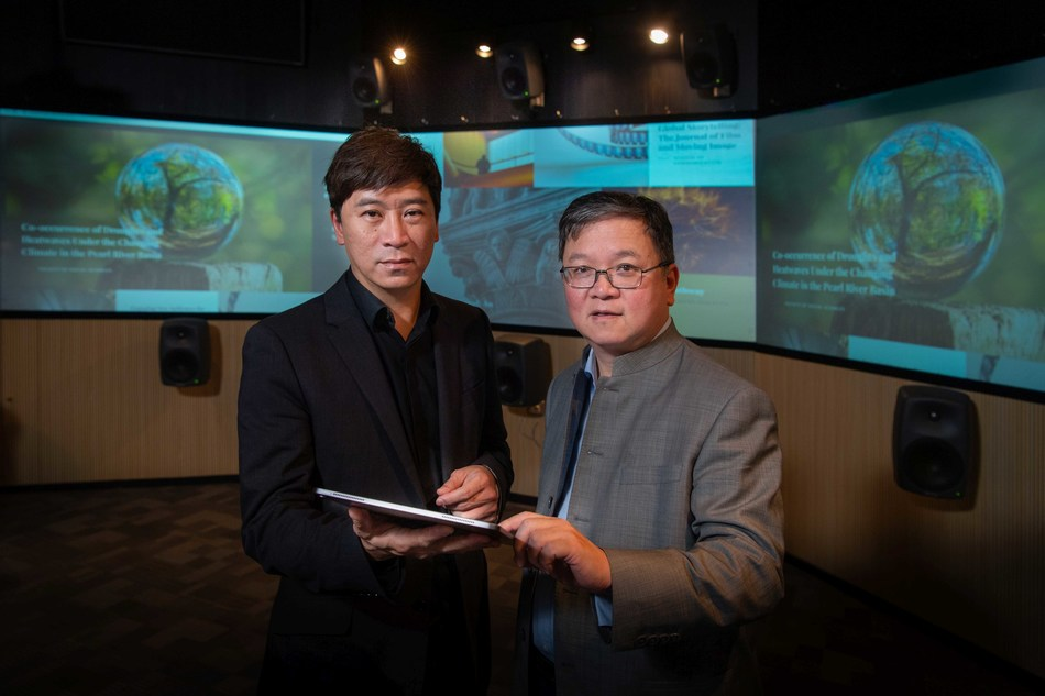 Professor Guo Yike (right), Vice-President (Research and Development) of HKBU, and Professor Johnny Poon Ming-lun (left), Associate Vice-President (Interdisciplinary Research) of HKBU, said the establishment of the six interdisciplinary research laboratories will enhance the University's research capacity.