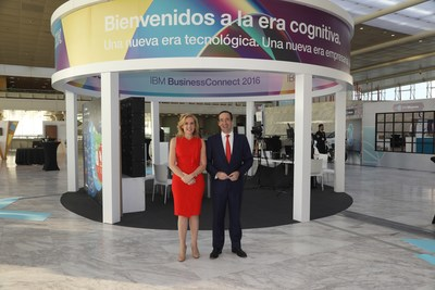 L-R: Marta Martínez, GM, IBM SPGI (Spain, Portugal, Greece & Israel) and CaixaBank CEO, Gonzalo Gortázar.