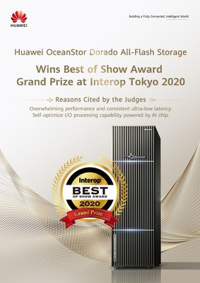 Huawei OceanStor Dorado All-Flash Storage Wins Best of Show Award at Interop Tokyo 2020