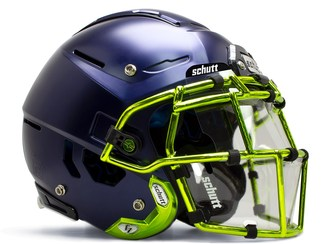 Schutt Sports' Splash Shield that will offer some protection for football players from harmful droplets caused by talking, sneezing and coughing in close proximity.