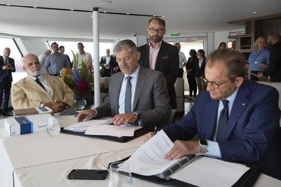 Roberto Martinoli Gives his Signature to Officially Take Delivery of the Ship