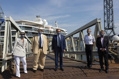 Silversea's Top Executives Travel to Rotterdam to Take Delivery of Silver Origin