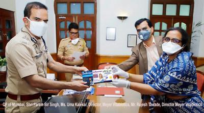 Meyer Vitabiotics team with CP of Mumbai