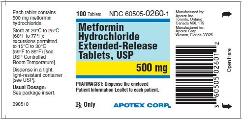 Metformin Hydrochloride Extended-Release Tablets, USP, 500mg (CNW Group/Apotex Corp.)