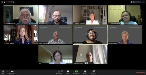 The GetSetup team is all over the world, but meets virtually to discuss best practices and continual growth and improvement.