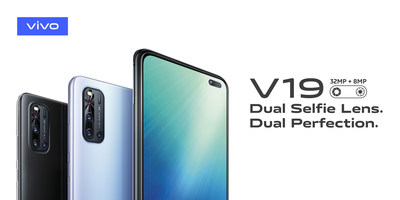 vivo V19 in Gleam Black and Sleek Silver