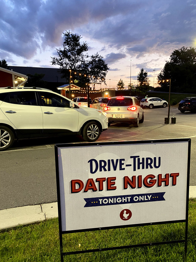 Zaxby's launches Zax Pack for Two with 'Drive-Thru Date Night.'  The event was custom made for stir-crazy couples in need of a night out from sheltering at home.