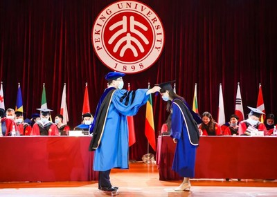 Dean Hai officiates at the commencement ceremony