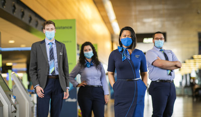 Face masks are required for all guests 12 and over, and for all airline employees at ticket-counters, boarding and on the plane.