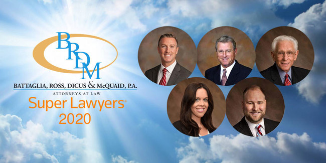 Five Attorneys from Battaglia, Ross, Dicus & McQuaid, P.A. Recognized as Florida Super Lawyers for 2020