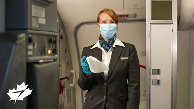WestJet announced its travel hygiene program under the Safety Above All umbrella, detailing what WestJet guests can expect when travelling to ensure their health and safety. (CNW Group/WESTJET, an Alberta Partnership)