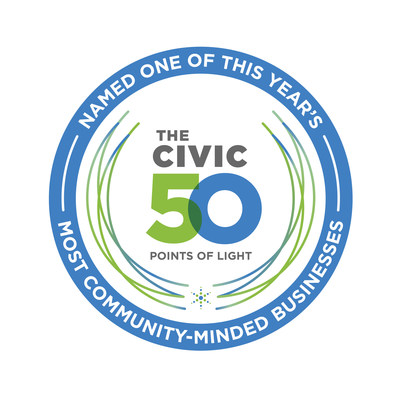 Aflac is named one of 2020's most community-minded businesses in the U.S. by Points of Light, which announced its list of the Civic 50 today.
