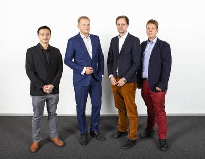 IQM founders: Dr Kuan Yen Tan (CTO), Prof Mikko Möttönen (Chief Scientist), Dr Jan Goetz (CEO), Dr Juha Vartiainen (COO). (PRNewsfoto/IQM Finland Oy)