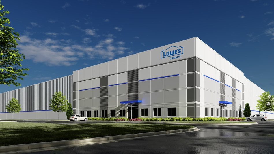 Lowe's Canada will operate a new distribution centre in the Greater Calgary Area. The new 1,230,000-square-foot facility is expected to open in the fall of 2021 and will represent a joint investment of more than $120 million. (CNW Group/Lowe's Canada)