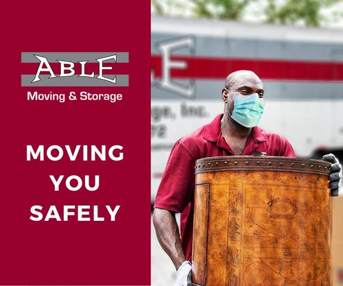 Able Moving & Storage was on the forefront of industry actions to battle COVID-19. The company immediately had sanitizer in all of its trucks, disinfected them daily, had PPE to its employees including gloves, and used infrared temperature checks. The company practices far exceeded what the CDC requested and they had measures in place in early March ahead of the curve.