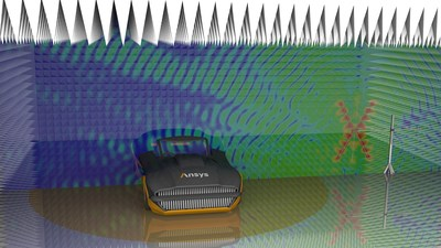 Ansys EMA3D Cable simulation: radiated immunity test of a vehicle