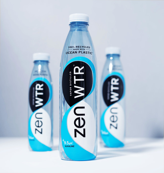 ZenWTR - First U.S. bottled water packaged in 100% recycled, certified ocean plastic in stores now