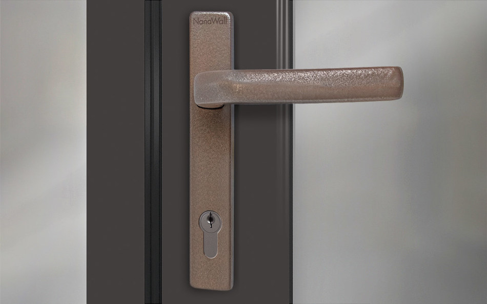 NanaWall Handle with Antiviral and Antimicrobial Copper Finish