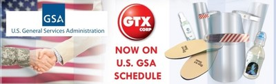 GTX Products now available for Purchase by U.S. Government Agencies and Military
