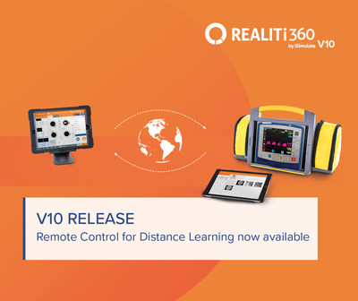 iSimulate releases new Remote Control Module for distance learning with REALITi simulated patient monitors