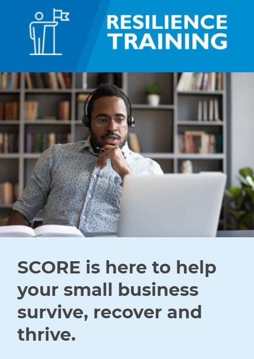SCORE is here to help your small business survive, recover and thrive.