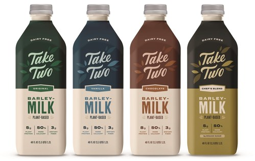 Take Two Foods is proud to announce the launch of the world's first Barleymilk into grocery stores, coffee shops, and cafes across the Pacific Northwest and Los Angeles.
