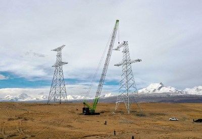 Zoomlion's ZCC1800H Crawler Crane Pushes the Limits in High-altitude Mega Project.