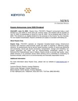 Keyera Announces June 2020 Dividend (CNW Group/Keyera Corp.)