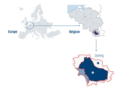 Reduction of the infected zone in Belgium