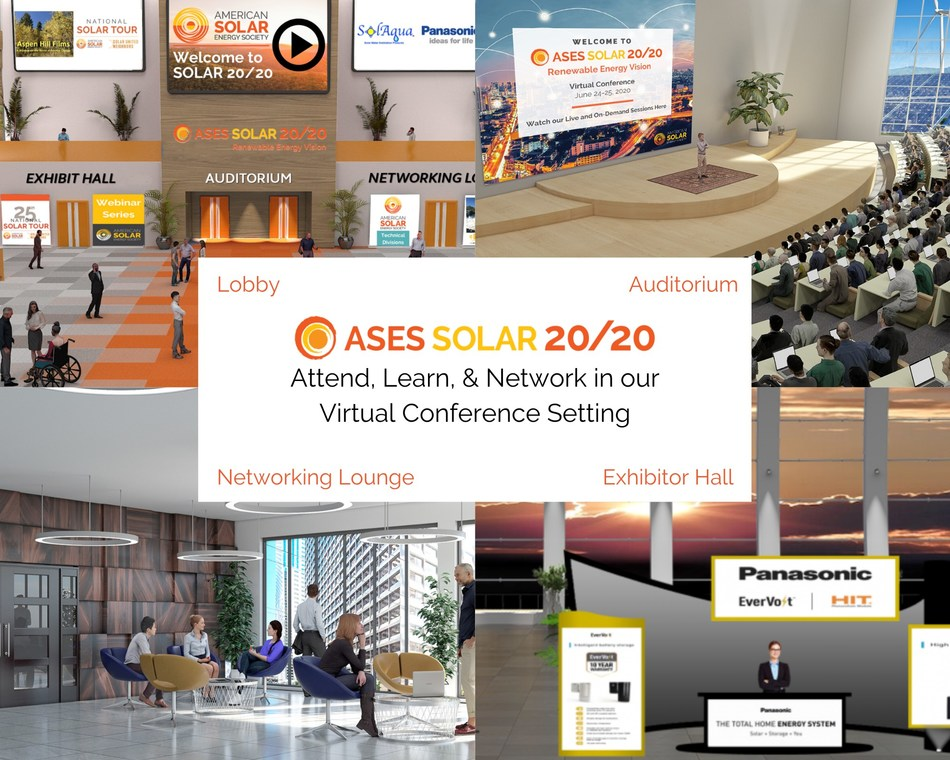 The American Solar Energy Society's 49th Annual National Solar Conference, SOLAR 20/20: Renewable Energy Vision, is online June 24 and 25! The conference has moved to being virtual this year and is now easier than ever to join, wherever you are in the world. The conference will feature important discussions on clean energy policy, finance, education, and more. Learn more and register at ases.org/conference.