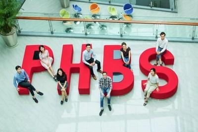 Students at PHBS building
