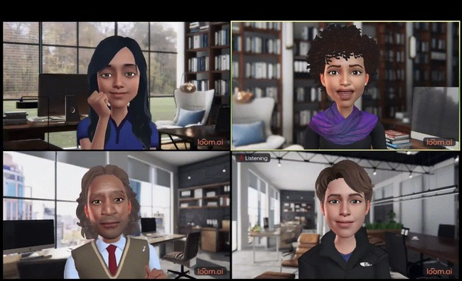 Loom.ai's LoomieLive uses voice to produce life-like avatar expression, allowing video callers to maintain focus and visual presence without the emotional strain and privacy loss caused by being in view of the camera.