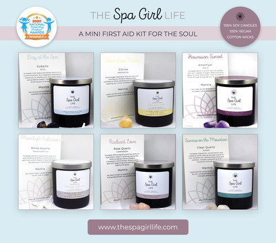 The Spa Girl Life luxury candles come with healing stones and affirmation cards to help you relax, rejuvenate and focus on self care, all from the comfort of home.