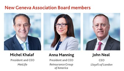 Geneva Association Board of Directors Welcomes CEOs of MetLife, Reinsurance Group of America and Lloyd's of London