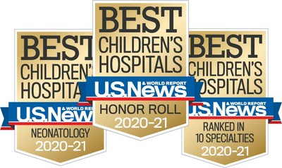 Children's National Hospital ranked a top 10 children's hospital and No. 1 in newborn care nationally by U.S. News for fourth year in a row