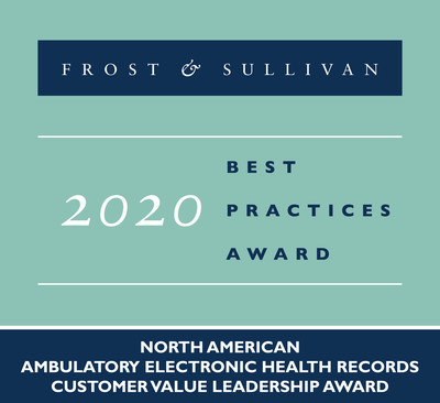 2020 North American Ambulatory Electronic Health Records Customer Value Leadership Award