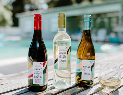 Announcing Sunny With a Chance of Flowers, a new zero sugar, low calorie, low alcohol wine