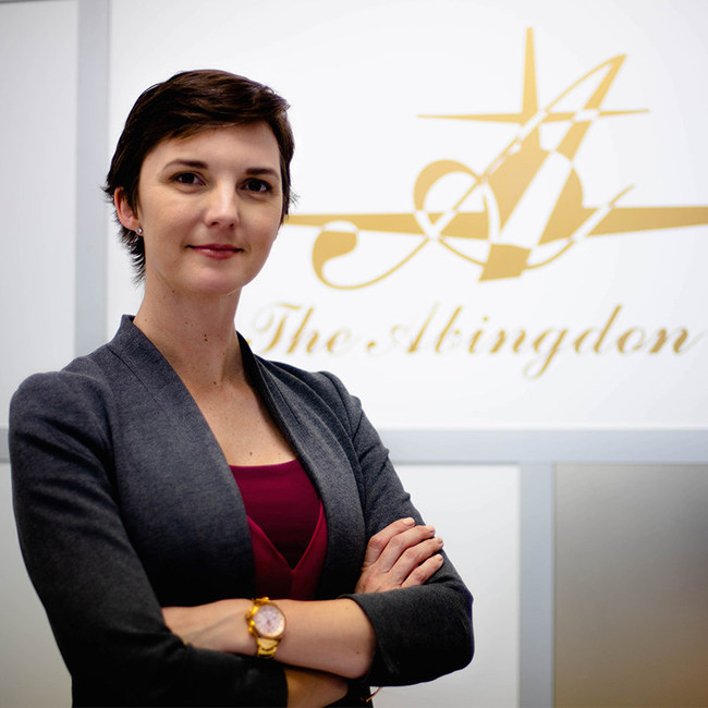 Abingdon Mullin, Founder and CEO of The Abingdon Co. took advantage of the downtime in Las Vegas' days of quarantine and attributes the benefits her company has seen to being measured, prudent, wise and not panicked.