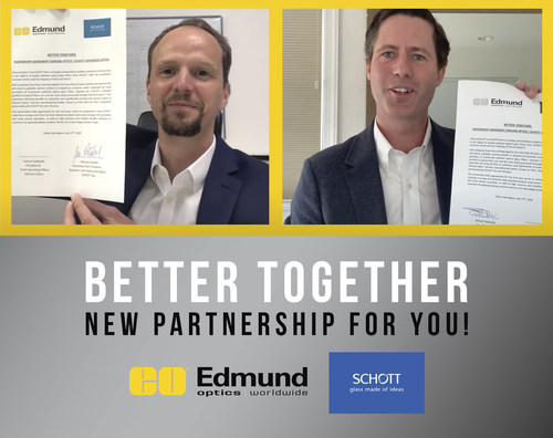 Partnership between Edmund Optics® and SCHOTT provides fast and easy access to optical filters