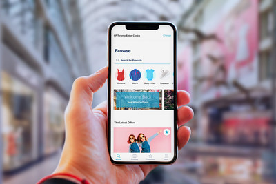 LiVE by CF is a new mobile app developed to enhance the Canadian shopping experience, at home or in CF shopping centres. (CNW Group/Ravel by CF)