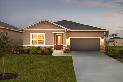 An exterior of Richmond American's Onyx plan, available at Seasons at Vista Del Lago in Dundee, FL.
