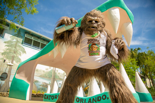 Orlando welcomes visitors with new, enhanced theme parks and attraction safety measures including a giant Skunk Ape character at Gatorland that encourages social distancing.