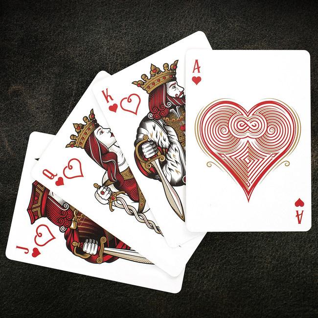 Hearts Fan Cards